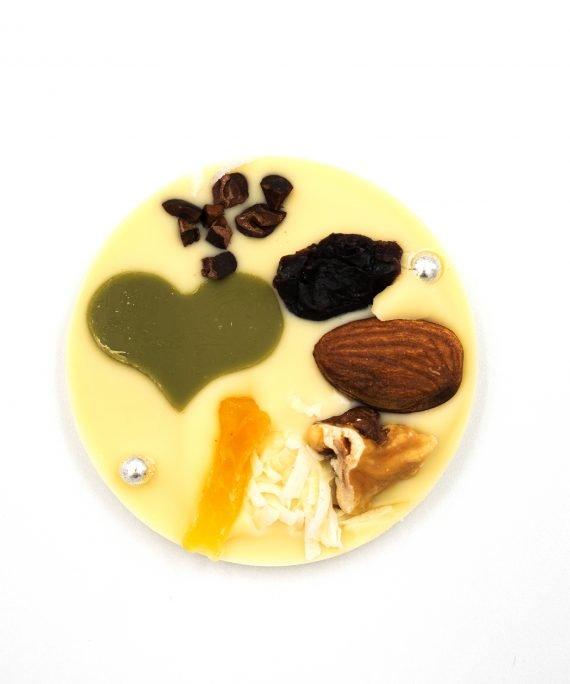 La Terre Ferme Chocolate Tropical Fruits, Nuts, White